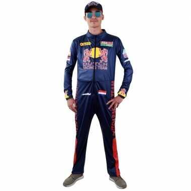 Race coureur verkleed carnavalspakl voor heren