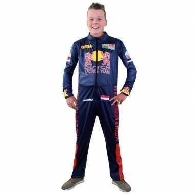 Race coureur verkleed carnavalspakl voor jongens