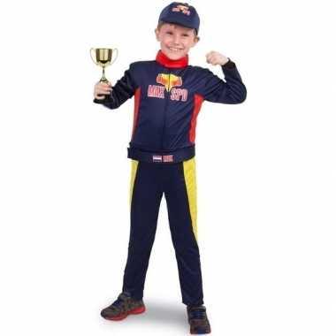 Race/formule 1 carnavalspak met beker voor jongens