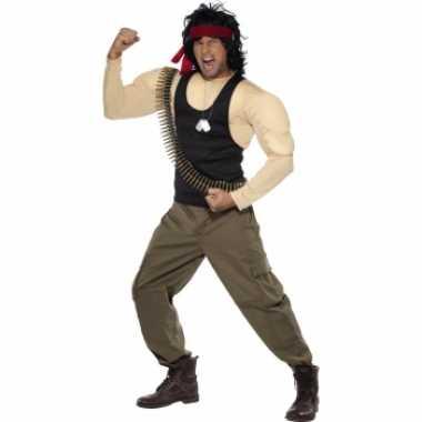 Rambo verkleed carnavalspaks voor heren