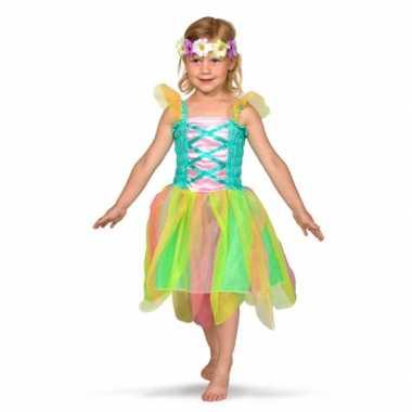 Regenboog fee carnavalspak voor meisjes