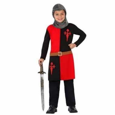 Ridder pak/verkleed carnavalspak rood voor jongens