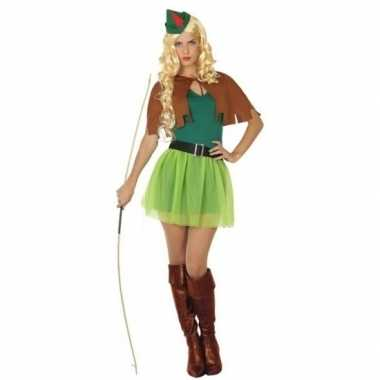 Robin hood carnavalspak 4 delig voor dames