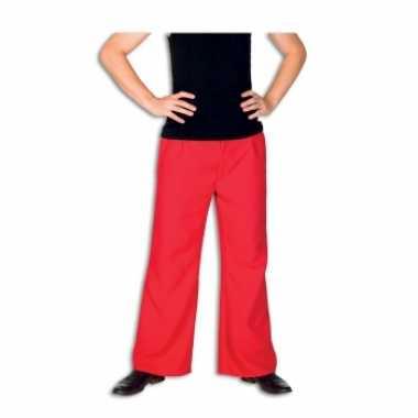 Rode carnavalspak broek voor heren
