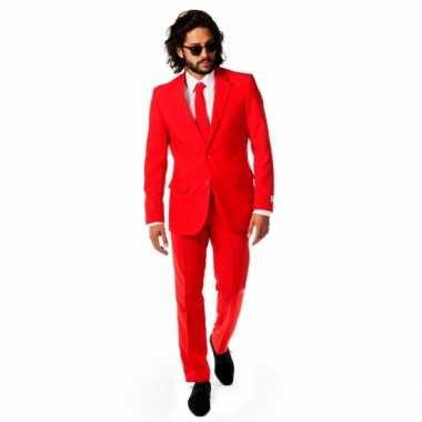 Rode carnavalspak voor heren