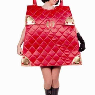 Rode handtas carnavalspak voor dames