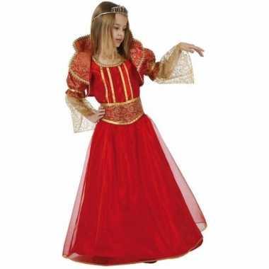 Rode koningin carnavalspak voor meisjes