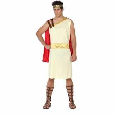 Romeinse/griekse heer agis verkleed carnavalspak voor heren