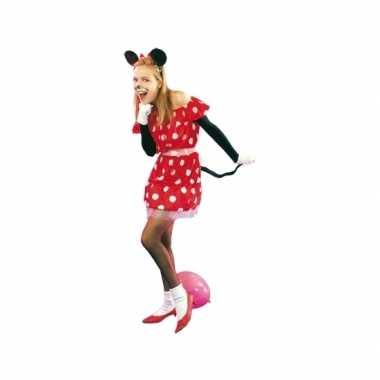 Rood muisje carnavalspak voor dames