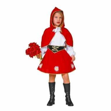 Roodkapje carnavalspak voor kinderen