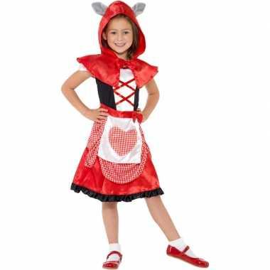 Roodkapje carnavalspak voor meisjes
