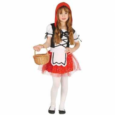 Roodkapje verkleed carnavalspak/jurkje voor meisjes