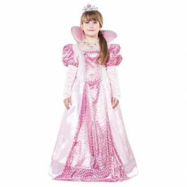 Roze koningin carnavalspak voor meisjes
