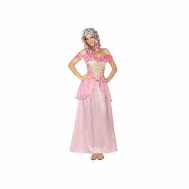 Roze prinsessen carnavalspak voor dames