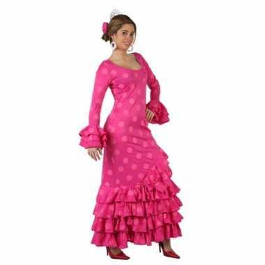 Roze spaanse carnavalspak jurk