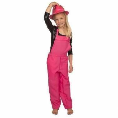 Roze tuinbroek carnavalspakl voor kinderen