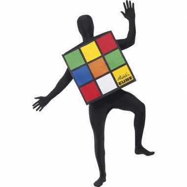 Rubiks kubus carnavalspak volwassenen