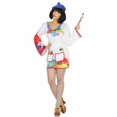 Schilder verkleed pak/carnavalspak voor dames