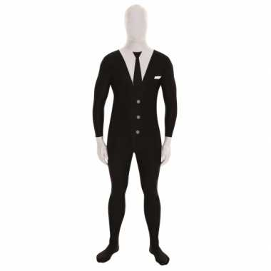 Carnavalspak pak businessman zwart