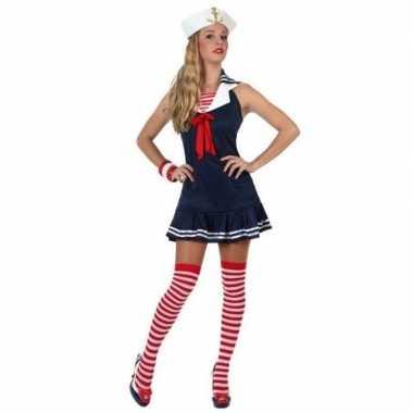 Sexy matrozen verkleed carnavalspak/jurkje voor dames