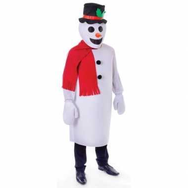 Sneeuw man carnavalspak