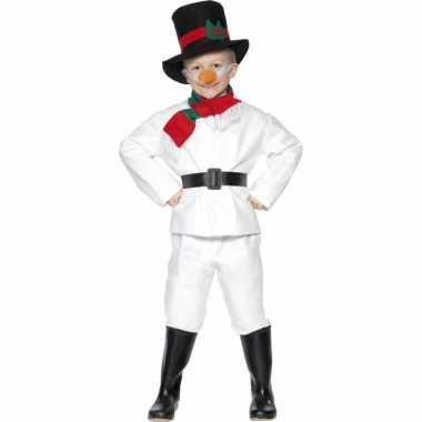 Sneeuwpop carnavalspak voor kinderen