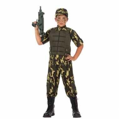 Soldaat/leger carnavalspak voor jongens