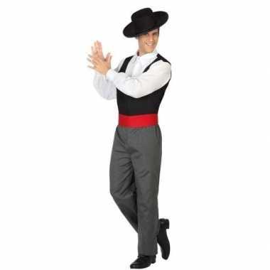 Spaanse flamencodanser verkleed carnavalspak voor heren