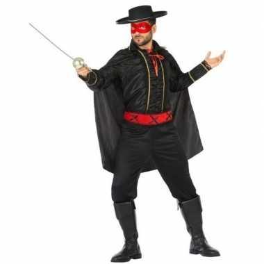 Spaanse gemaskerde held verkleed carnavalspak voor heren