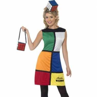 Spelletje Rubiks kubus carnavalspak