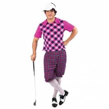 Sportieve golfers carnavalspak voor heren
