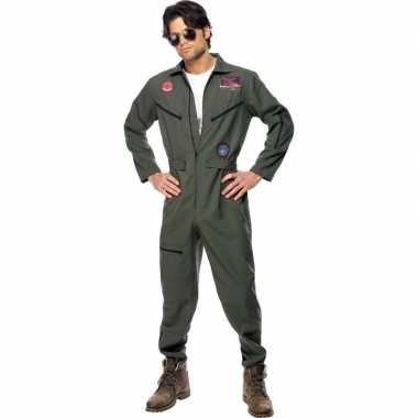 Straaljager piloten carnavalspak voor heren