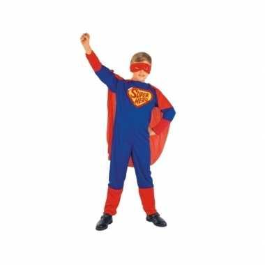 Super jongen kindercarnavalspak