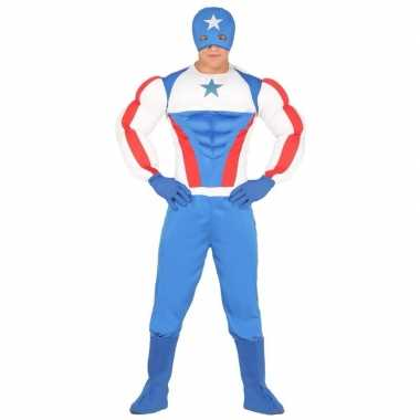 Superheld kapitein amerika carnavalspak voor heren