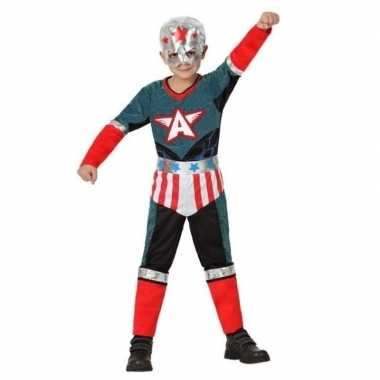 Superheld kapitein amerika pak/verkleed carnavalspak voor jongens