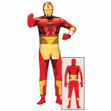 Superheld metalen man carnavalspak voor volwassenen