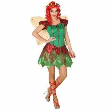 Toverfee/elfen jurkje verkleed carnavalspak voor dames