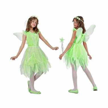 Toverfee/elfje flora verkleed carnavalspak/jurkje voor meisjes groen