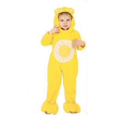 Troetelbeertjes carnavalspak geel voor peuters