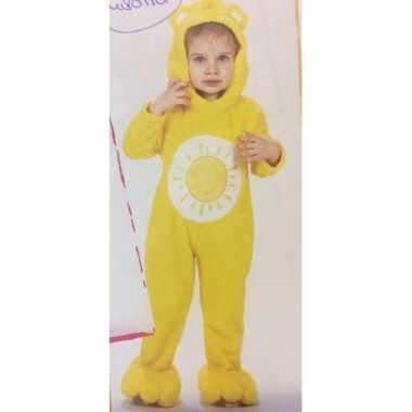Troetelberen carnavalspak geel voor meisjes