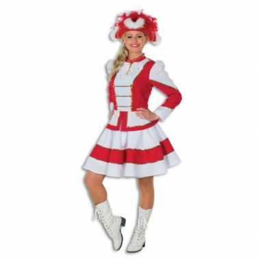 Twirl carnavalspak voor dames rood met wit