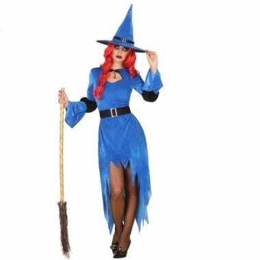 Verkleed carnavalspak blauwe heks