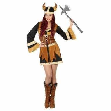 Viking verkleed carnavalspak/jurk voor dames