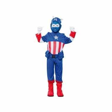 Voordelig superheld kapitein carnavalspak voor jongens