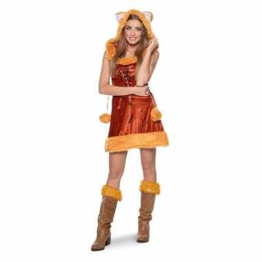 Vos dierencarnavalspak jurkje voor dames