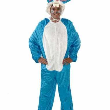 Vrijgezellenfeest carnavalspak blauw konijn