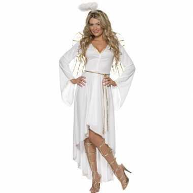 Wit engelen carnavalspak voor dames