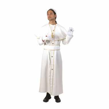 Wit feest carnavalspak kardinaal