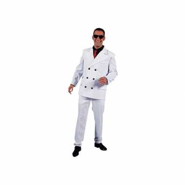 Wit gangster carnavalspak voor heren