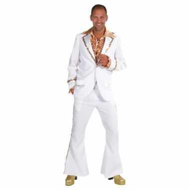 Witte seventies carnavalspak heren